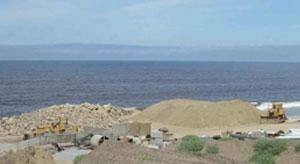 destructed coastal habitat, CA, USA